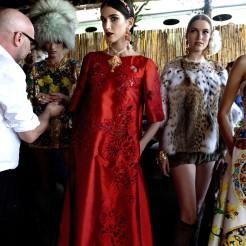 Designs from the Dolce & Gabbana presentation in Capri