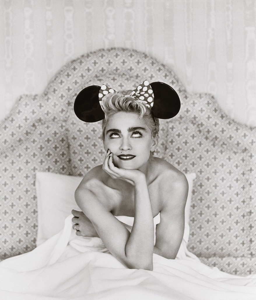 Madonna in Minnie Mouse ears (Japan)