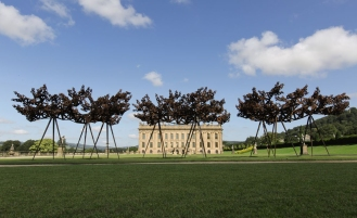 'The relationship of the landscape to the works on display is integral – whether they were directly inspired by or conceived in opposition to the idea of landscape,' says Marlow, who serves as director of artistic programmes at the Royal Academy. Pictured: The Dappled Light of the Sun I, II and III, by Conrad Shawcross, 2015