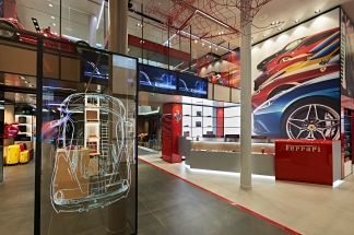 With four F1 simulators, interactive video walls and numerous multisensory positions, the Store was conceived not merely as a shopping destination but also as an entertainment venue.