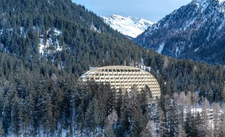 Set against a dramatic backdrop of the Graubünden Alps, the InterContinental Davos was designed by Oliver Hofmeister of Munich-based firm Oikios, who envisioned a 'supple yet incisive external form' for the 213-room property.