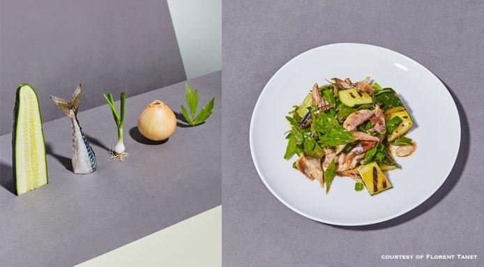 Grilled Salad by chef Nye Smith   Yard bistrot, Parigi