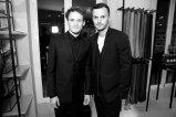Anton Yelchin with Dior Creative Director Kris Van Assche (right)