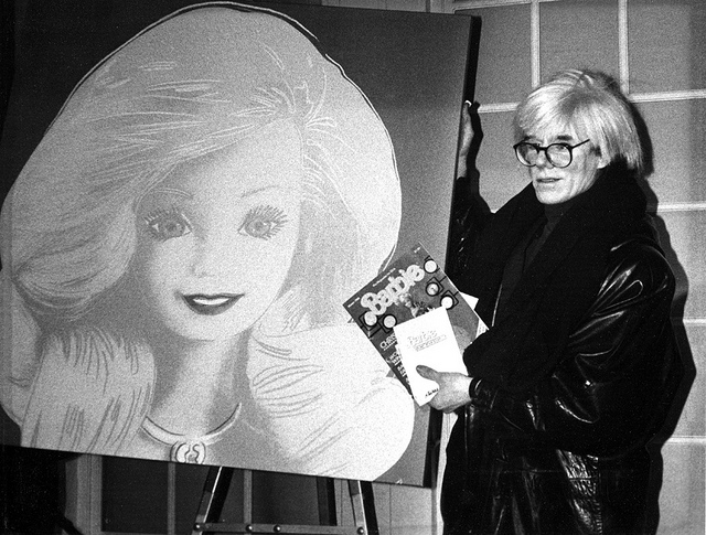 Barbie by Andy Warhol (photo) for the Barbi, the Icon exhibition at MUDEC in Milan