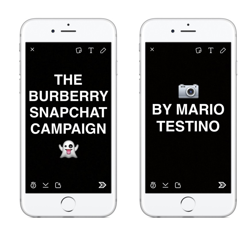 Burberry announcesment of the Snapchat Campaign
