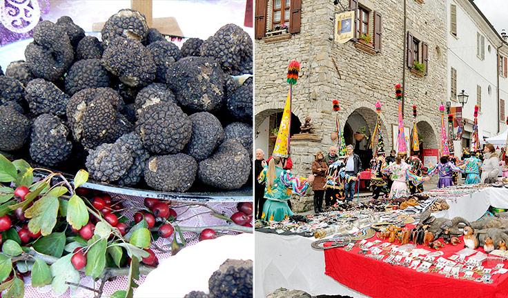 Fiera nazionale del tartufo nero di Fragno, Calestano, Parma, Emilia Romagna