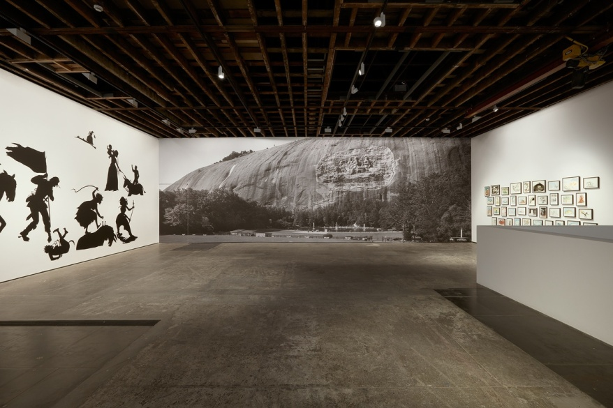 Installation View, Kara Walker, 'Go to Hell or Atlanta, Whichever Comes First', on view at Victoria Miro Gallery from 1 October to 7 November 2015