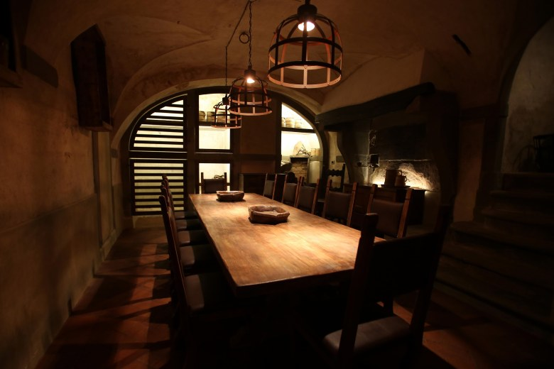 """Locale"" Midieval style dining area. Photo by MarcoMori-Edoardo Abruzzese/New Press Photo"