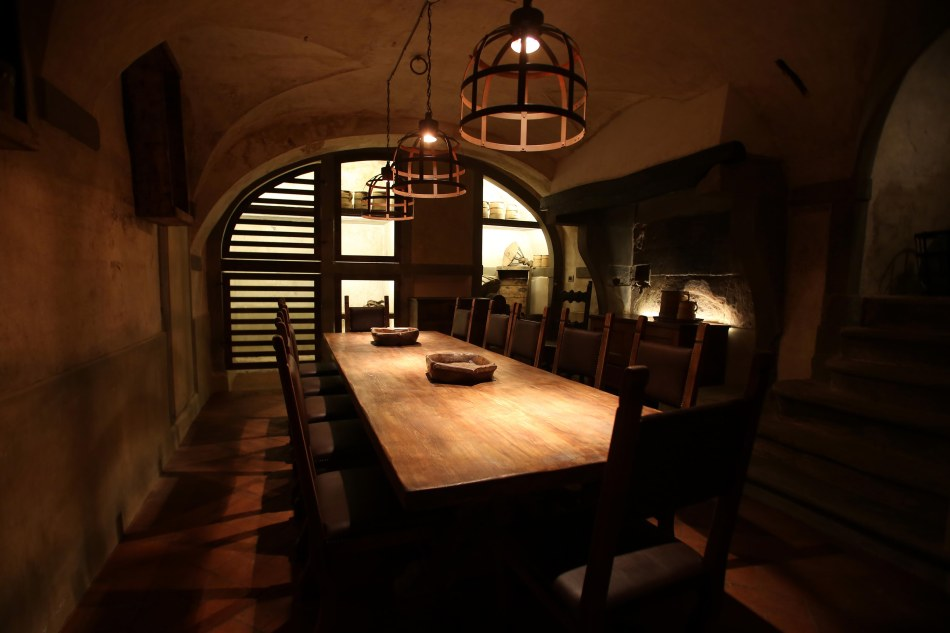 """Locale"" Midieval style dining area. Photo by MarcoMori-Edoardo Abruzzese/New Press Photo"