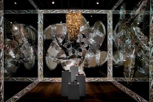 Melissa concept store in Covent Garden, London. Baroque metal.