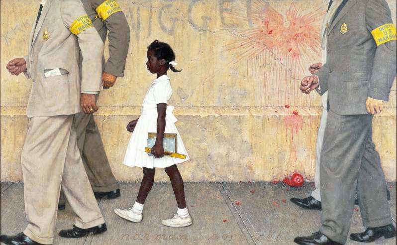 'The problem we all live with' by Norman Rockwell