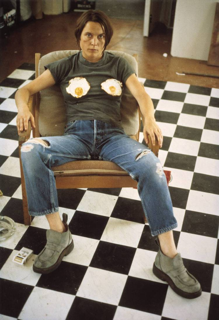 Self Portrait with Fried Eggs 1996 http://www.tate.org.uk/art/work/P78447