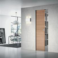 The Scrigno sliding door 'Comfort for Essential' offers a customizable subframe in Aluzinc (an exclusive patent Casket) that is made to measure. scrigno.it