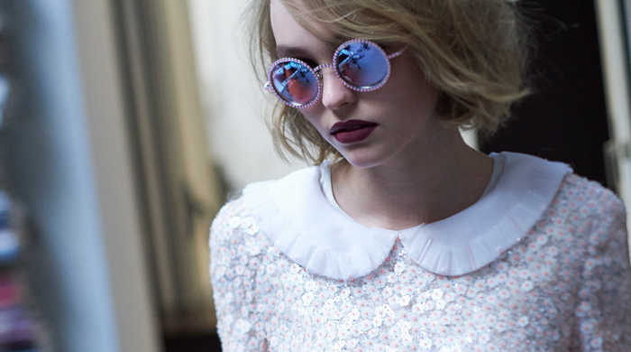 Lily Rose Depp in the 2015 Pearl eyewear by Chanel, shot by Olivier Saillant