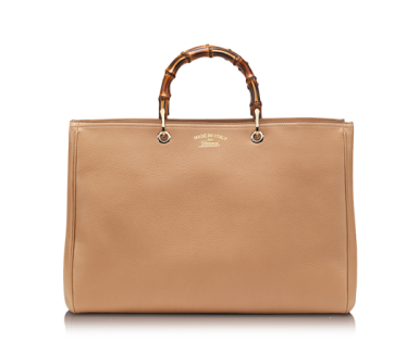 The 'Double Hero' Gucci tote with bamboo handle