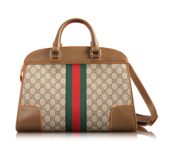The 'Double Hero' classic Gucci logo city bag with leather trim