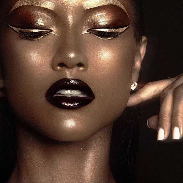 On the product, Pat McGrath encourages not to be feature specific, instead experiment with the Gold 001 product.