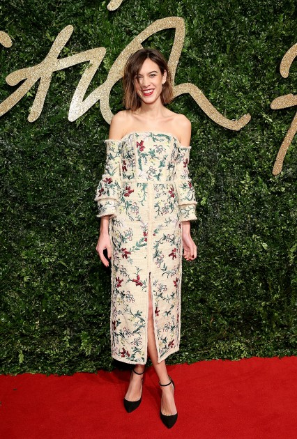 Alexa Chung attends the British Fashion Awards 2015, in partnership with Swarovski (Mike Marsland, British Fashion Council)