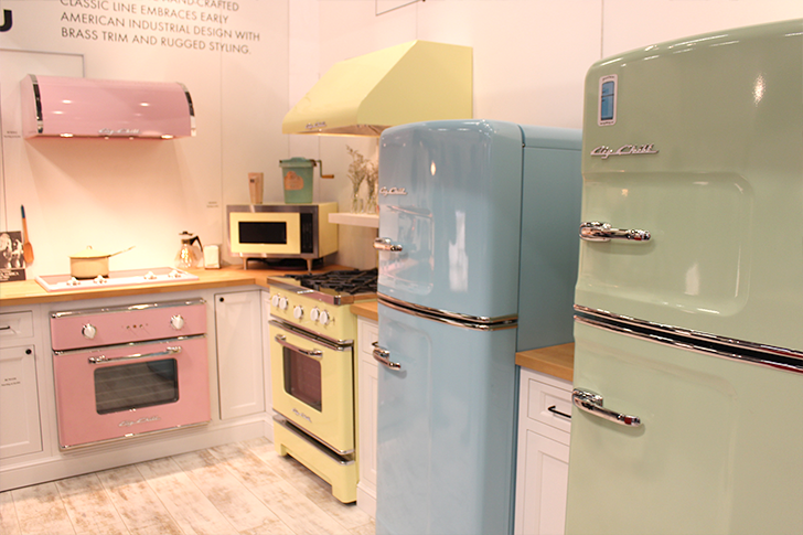 Big Chill Pastel Kitchen at the Architectural Digest Home Design Show