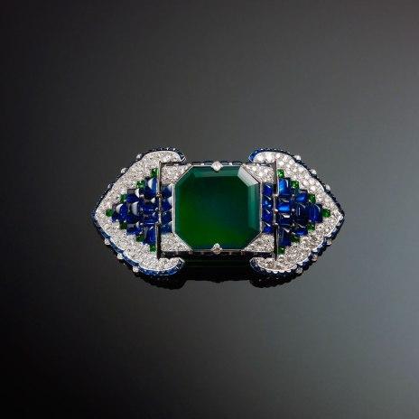 Emerald brooch