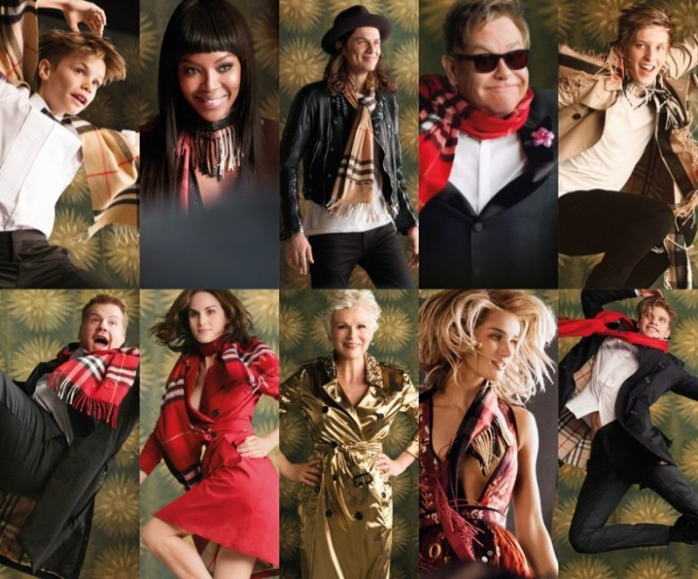 Cast of the Burberry Festive Film 2015