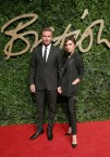 David Beckham and Victoria Beckham attends the British Fashion Awards 2015 at London Coliseum on November 23, 2015 in London, England.