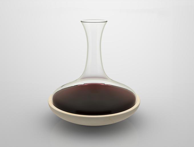 Cusenza Marmi + ColleVilca, 'Wine Decanter'