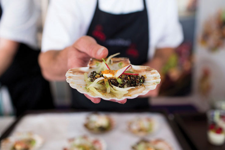 Gaucho Pan-fried scallop for Taste of London 2014