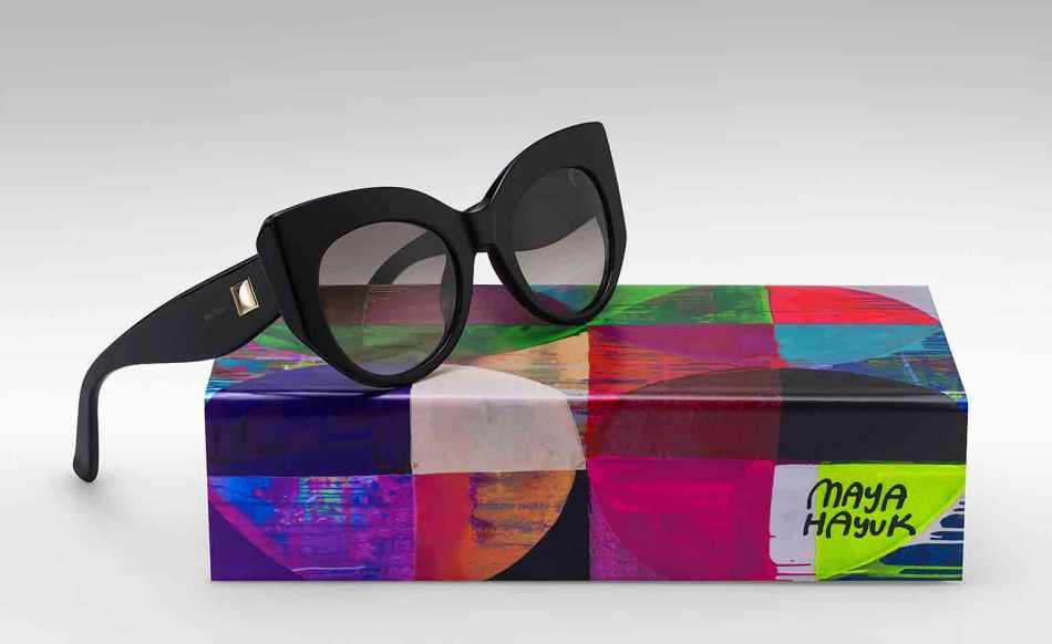 Max Mara x Maya Hayuk 'Optiprism' sunglasses and box (2015)