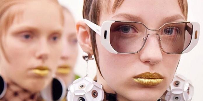 Pat McGrath Gold 001 at the Prada Spring 2016 Fashion Show in Milan