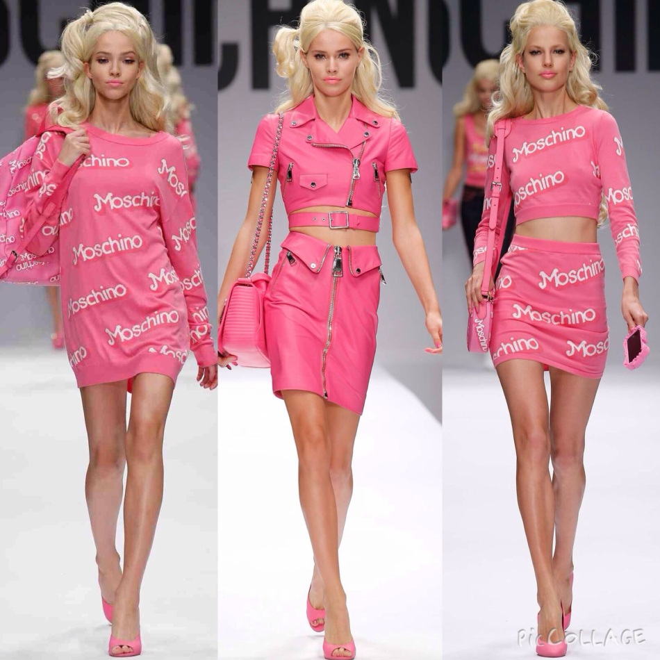 Pink Barbie collection by Moschino