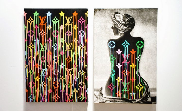 Liquidated Logos by French street artist Zevs Art Basel Miami 2011
