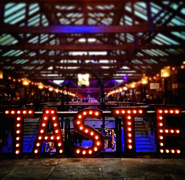 Taste of London Festival at Tobacco Dock in London