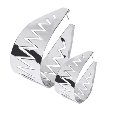 Carnivore hoop earring silver - Medium & large
