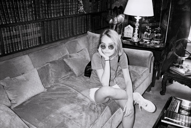 A behind-the-scenes image of Lily-Rose Depp for Chanel eyewear. Photo: Leila Smara/Chanel