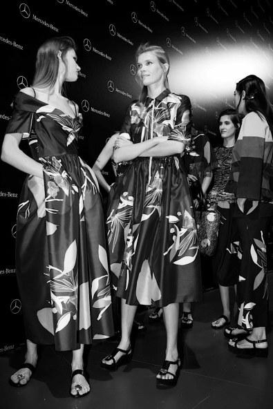 Models showcases designs by Juan Vidal on the runway at the Juan Vidal show during Mercedes-Benz Fashion Week Madrid Spring/Summer 2016 at Ifema on September 21, 2015 in Madrid, Spain.