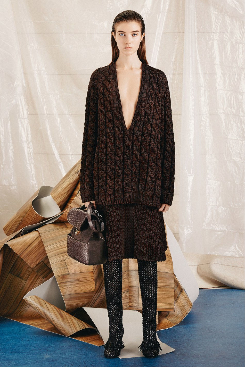 The cable-knit, Proenza Schouler