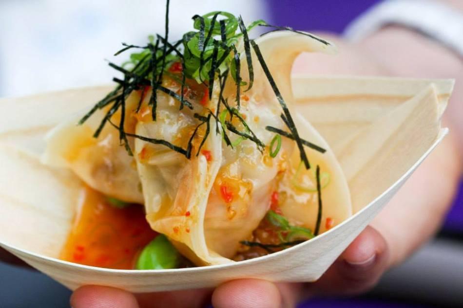 Roka Black cod dumpling for Taste of London 2014