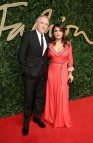 Salma Hayek Pinault and Francois Henri Pinault attends the British Fashion Awards 2015 at London Coliseum on November 23, 2015 in London, England.