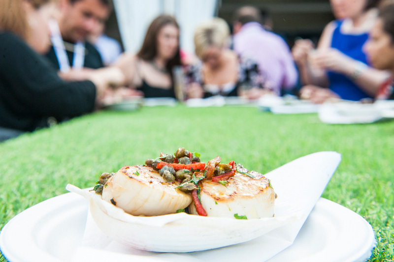 Pan-fried scallop by Chef Theo Randall for Taste of London 2014