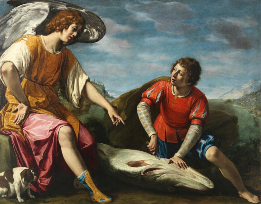 Tobias and the Angel Tarchiani Filippo Firenze, 1576 - Firenze, 1645 Oil on canvas, 136 by 173 cm - 53,5 by 68,1 in