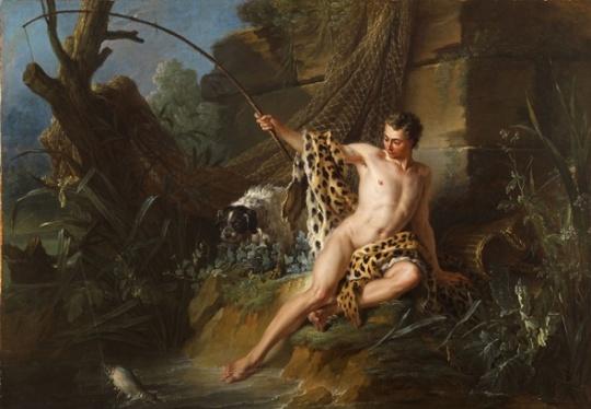 Le Pêcheur et le petit poisson (from Les Fables by La Fontaine) Oudry Jean-Baptiste Paris, 1686 - Beauvais, 1755Oil on canvas, 120 by 172 cm - 47,2 by 67,7 in