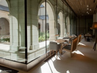Dining area at the Fontevraud Hotel