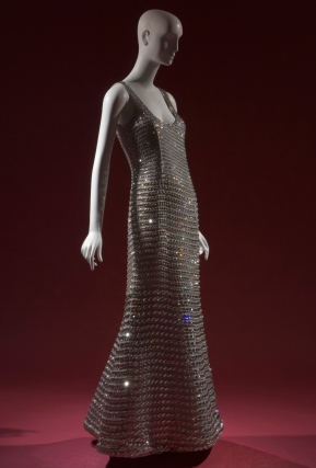 Armani, evening gown embellished with Swarovski crystals, fall 2007, Italy.