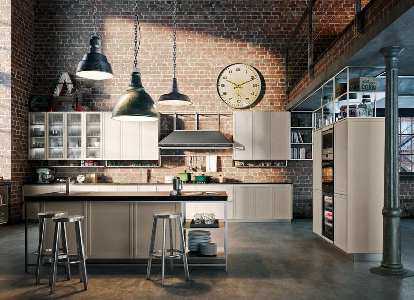 Massimo Iosa Ghini metallic kitchen frame structure for snaidero