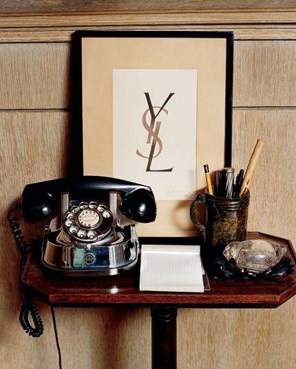 YSL couture house original logo