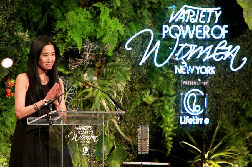 Vera Wang graciously accepts praise. Photo by Amy Sussman/Variety/REX/Shutterstock Variety's Power of Women NY Presented by Lifetime, Inside, New York, America - 08 Apr 2016