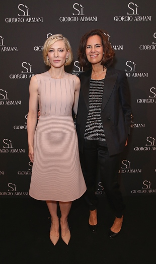 Cate Blanchett and Roberta Armani at Giorgio Armani Parfums Si Gathering Day in London, England.