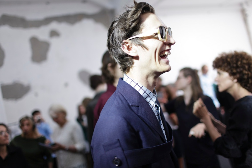 Backstage at Marni Men's Spring 2016