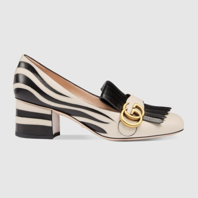 Décolleté heeled loafter in Zebra by Gucci € 790